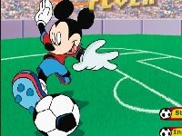 Picture of Mickey vs Donald play soccer