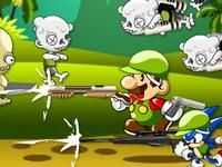 Picture of Mario and Sonic Zombie Killer